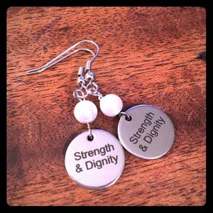 Jewelry - 💖✨Pearl Beaded Strength & Dignity Earrings✨💖